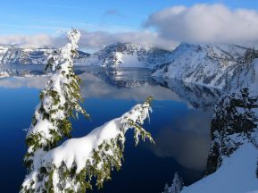 Crater Lake Winter