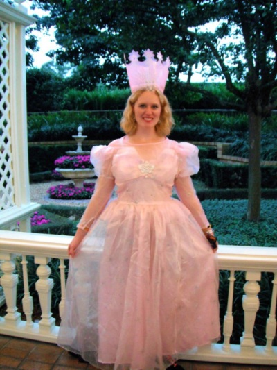 As Glenda The Good Witch from Wizard of Oz.